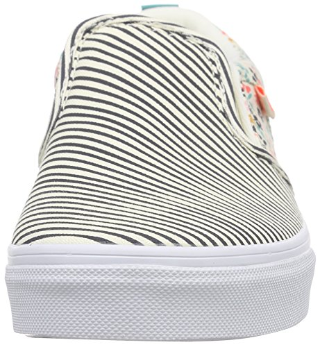 Vans Asher, Baskets Basses Fille Multicolore (Flower/Stripe/Classic White)  ...