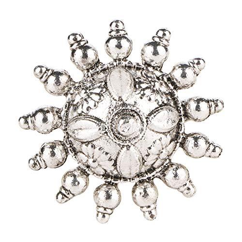 Ringe Kostüm Inspirierte Vintage - Efulgenz Boho Vintage Gypsy Indian Oxidiertes Silber Statement-Ring größenverstellbar Blumenmuster