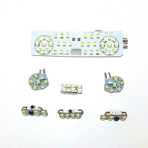 July King 7 Pcs LED Voiture Intérieur Lumières De Lecture REAR-V-W-Golf-6th Pour Golf MK6 2008-2012, 5050SMD 6000K blanc