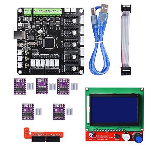 Biqu Kfb3.03d Control Board + LCD 12864module écran d'affichage carte mère + Drv8825Stepstick module de pilote de moteur pas à pas pour Reparp Mendel Prusa i3imprimante 3d Kossel