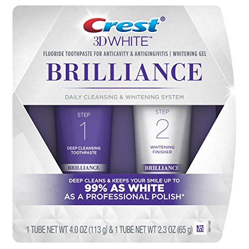 Crest 3D White Brilliance Daily Cleansing Toothpaste and Whitening Gel System -