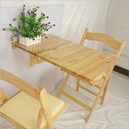 Preisvergleich Produktbild Tische MEIDUO Wand-Klapptisch,  Klappküche & Esstisch Schreibtisch,  Massivholz Kindertisch,  2colors (nicht enthalten Stühle) Computertisch (Farbe : Holz)
