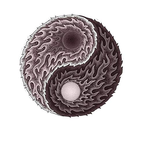 Wandtattoos Wandbilder(2 Teile/Los) Cartoon Yoga Meditation Ying Karate Aufkleber Logo Pvc Fahrzeug Dekoration Aufkleber Zubehör Auto Aufkleber 15 Cm X 15 Cm