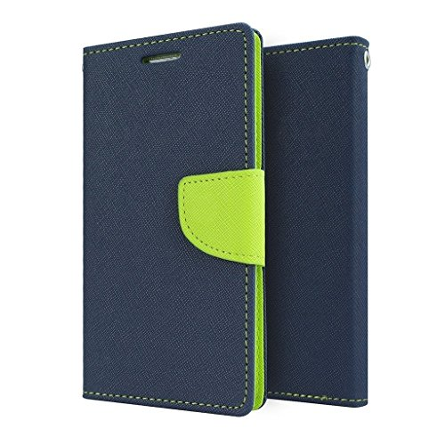 ACASE Premium Fancy Wallet Diary Faux Leather Mobile Flip Case Cover [Pouch] with Card Slots [POCKETS] , Stand View and Magnetic Strap [LOCKING] for Apple Iphone 4G/4S-(Blue)  available at amazon for Rs.245