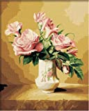 #10: Diy Oil Painting, Paint By Number Kit Pink Vase 16*20 Inch.