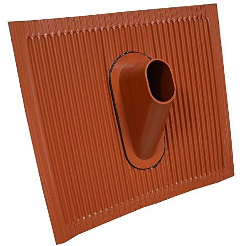 PremiumX Dachabdeckung Alu Dachziegel Rot Dach Montage Abdeckung Ziegel Dachpfanne für Sat Dachsparrenhalter