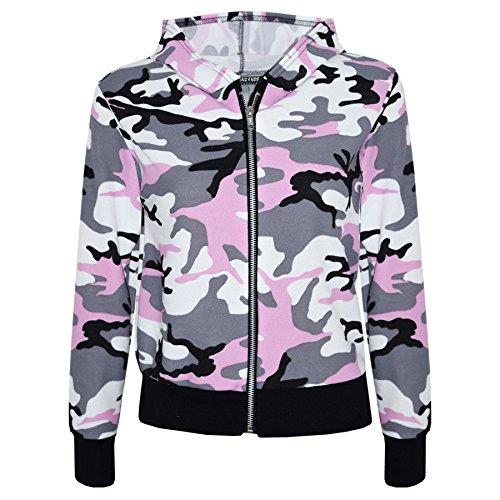 A2Z 4 Kids® Kinder Mädchen Tarnung Aufdruck - Baby Pink Camo Jacket 11-12 (Camo Jacke Mädchen)