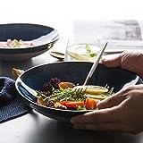 SLW Obstsalat Dessert Snack Dip Schüssel Große Keramik Pasta Schüssel Geschirr Japanische Ramen Nudel servieren Kitchenaid Schüssel Durchmesser: 23.5 cm, 1100 Ml