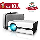 "Projector, ELEPHAS (2nd Gen) 2500 Lumens Video Projector Portable Mini Multimedia 170"" LED Movie Projector Support 1080P for Home Cinema Entertainment Parties Games [2018 Upgraded]"