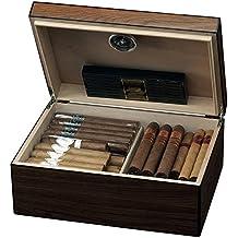 Egoist JK00174 Cave à cigares Humidor Humidificateur avec hygromètre  - 40 cigares (Marron)