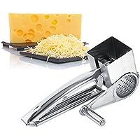Rallador de queso Molinillo Queso con manivela para queso de acero inoxidable multifunción Kitchen Craft