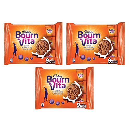 Cadbury bournvita Crunchie Chocolatey Cookies, 250g (Pack of 3)  available at amazon for Rs.179