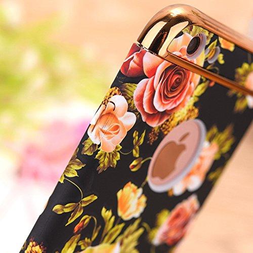 Back Cover per Apple iPhone 7Plus 5.5(NON iPhone 7 4.7), CLTPY Retrò Bellissimo Vento Nazionale Flower Dipinto Serie Case Ultra Fine Copertura di Hard PC Plastic Protezione per iPhone 7Plus + 1x Sti Fiore Colorato 12