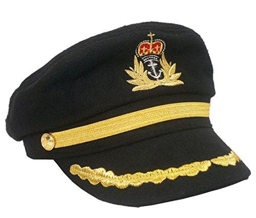 ütze Matrosenmütze Schiffermütze Yachtmütze Nautisch Schirmmütze Ente Zunge Schwarz (Zunge Kostüm)