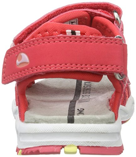 Viking Anchor, Sandales  Bout ouvert mixte enfant Orange (Dark Pink/Coral)
