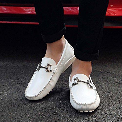 ZXCV Scarpe all'aperto Personalità in pelle uomo Piselli calzature calzature calzature scarpe casual scarpe di marea leggera Bianca