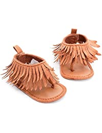 Zapatos de niños, Calzados/Zapatillas/Sandalias de niños Sandalias de Borla de Las Muchachas del bebé Sandalias de Verano de Las Sandalias de la Suela Suave del Cuero de la PU