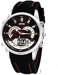 Los relojes de los hombres al aire libre impermeable relojes deportivos escalar montañas reloj multifunción de la exhibición dual-B