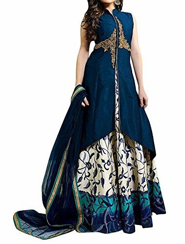 Lehenga Choli (Pd Cloth Villa Women's Heavy Embroidered Tafeta Silk lehnga/Lehenga Choli/Lehenga...