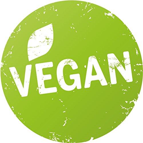 Finest-Folia Aufkleber Ø20cm Schaufenster etc. Bio, Vegan, Vegetarisch, Glutenfrei, Laktose, mit Schutzlaminat (R001 Vegan)