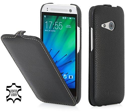 StilGut UltraSlim Case, Tasche aus Leder für HTC One Mini 2, schwarz
