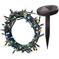 WeRChristmas Solar Power Multi-Colour LED Lights String Christmas Decoration, 10 m - 100-Piece, Multi-Colour