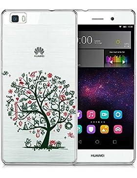 Funda Huawei P8 Lite, Wouier® Silicona Transparente Buena Calidad Premium Transparente / Perfecto adecuado, Carcasa...
