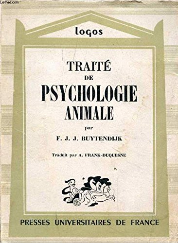 Traite de psychologie animale par Buytendijk F.J.J.
