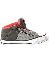 Kentti Sneaker a Collo Alto, Scarpe da Ginnastica Sportive in Tela Alte Unisex-bambini Blu 32 EU/13 UK
