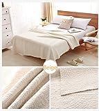 Alicemall Tagesdecke Baumwolle Bettüberwurf 200x230cm Sofa Überwurf Gesteppt Steppdecke (200x230 cm, weiß)