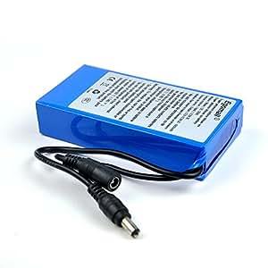 egomall batterie rechargeable 6800mah dc 12v pour cctv cam super rechargeable li ion. Black Bedroom Furniture Sets. Home Design Ideas