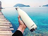 Die besten Immer isolierte Edelstahl-Wasserflaschen - LONTEK Trinkflasche Edelstahl Wasserflasche Doppelwandig Vakuum Isoliert Edelstahl Bewertungen