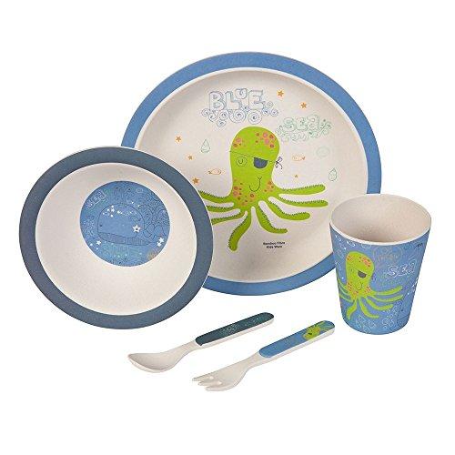 Set–couvert-Pieuvre-Ustensiles-en-bambou-Ustensiles-pour-enfants-rutilisables-Assiettes-Gobelets-Bol–muesli-cuillre-fourchette-rsistant-au-lave-vaisselle-sans-BPA