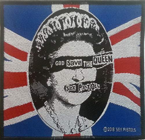Klicnow Sex Pistols - Parche Texto inglés God Save