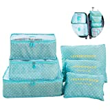 Switty 6pcs viaje bolsas de almacenamiento de ropa que embala maleta de...