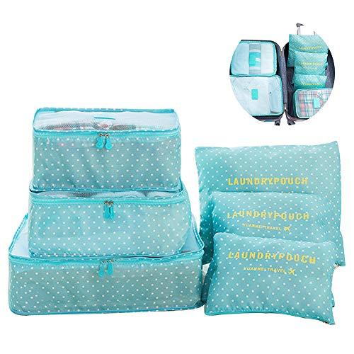 Switty 6pcs viaje bolsas almacenamiento ropa embala