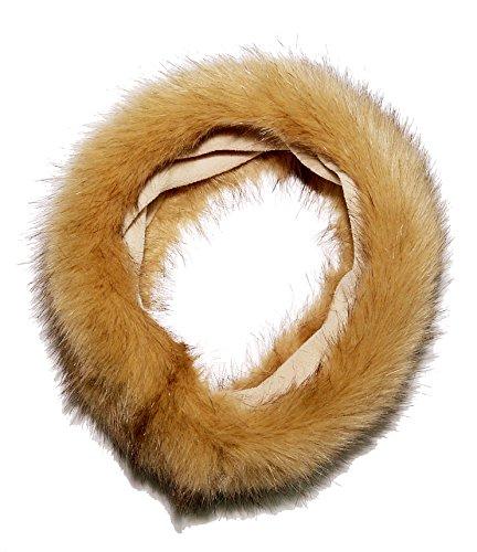Damen Womens Soft Tan Faux Pelz Stirnband, Ski Stirnband oder (Braun Haarige Hände)