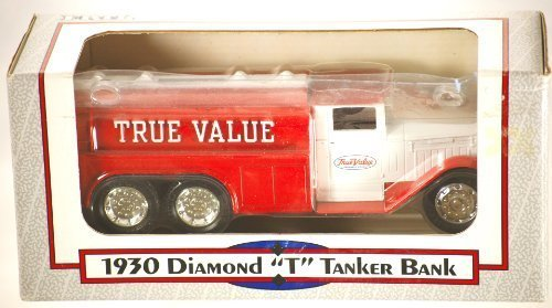 1992-ertl-true-value-1930-diamond-t-tanker-bank-134-scale-die-cast-metal-rubber-tyres-made-in-usa-di
