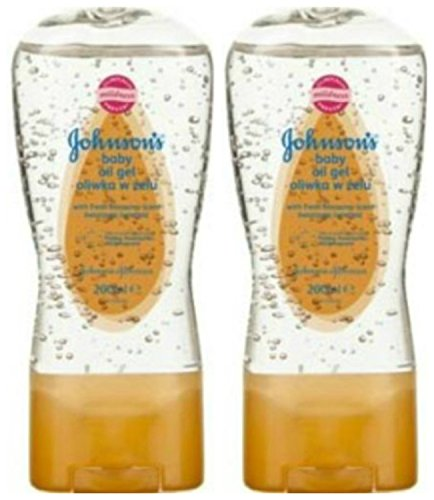 2 x JOHNSON & JOHNSON BABY OIL GEL MIT FRISCHEN BLUMENDUFT - 400ml (200ml INHALT JE TUBE) 'gibt ein...