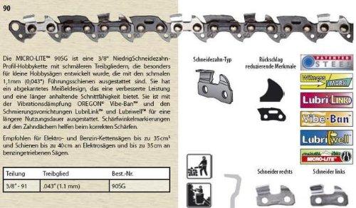 Oregon Sägekette Halbmeißel 90SG 3/8 1,1mm 40cm 56TG