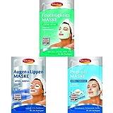 Schabens Masken-Set (Feuchtigkeit, Augen&Lippen, Peel-off)