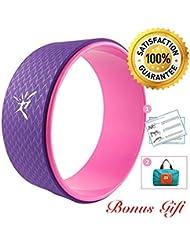 Roue de Yoga Comprend Manuel, Exercice Roue Pour améliorer la Flexibilité, Work Out Force du corps Prop 33 x 13cm, Supporte jusqu'à 474kg