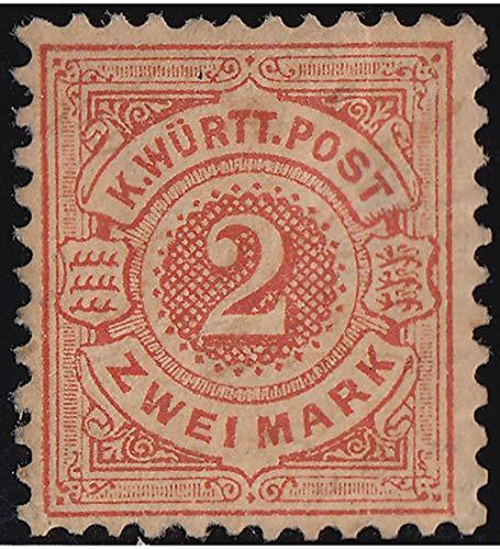 Goldhahn Württemberg Nr.52 ungestempelt Briefmarken für Sammler