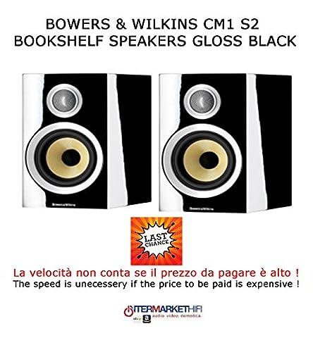 Bowers & Wilkins CM1S2Bookshelf Speaker, Gloss Black,