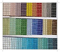 SOOTHING IDEAS 200 Pack Glass Mosaic Tiles Larger 2x2cm Venetian Glass Tiles 40 Colours Crafts Decoration