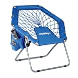 Relaxdays Bungee Stuhl WEBSTER, elastisch, Faltbar, bis 100 kg, Seitentasche, Outdoor Gartenstuhl,...