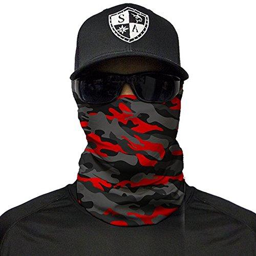 SA Company Herren Face Shield Fire Red Military Blackout Camo