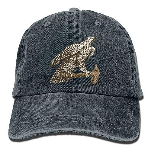 AOHOT Herren Damen Baseball Caps,Hüte, Mützen, Classic Baseball Cap, Hawk Standing On A Branch Denim Hat Adjustable Unisex Baseball Hats Hawks-lampe