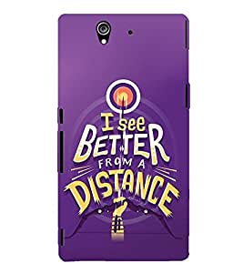 FUSON See Better From Distance 3D Hard Polycarbonate Designer Back Case Cover for Sony Xperia Z :: Sony Xperia ZC6603 :: Sony Xperia Z L36h C6602 :: Sony Xperia Z LTE, Sony Xperia Z HSPA+
