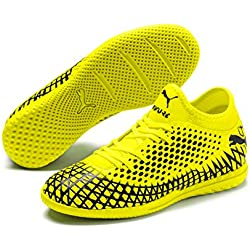 PUMA Future 4.4 IT Jr, Botas de fútbol Unisex Niños, Yellow Alert Black, 28 EU